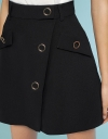 Mid-Rise Skirt With Button Front