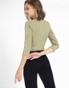 Knit Top With Layered Detail