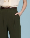 Mid-Rise Pants With Folded Detail