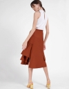 Mid-Rise Skirt With Gathered Detail