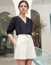 Belted Shorts With Pockets