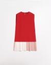 カラーブロックヘムのシフトドレス