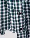 袖なしチェックミディドレス