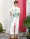 アブストラクト柄のリラックスTシャツ