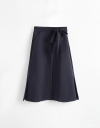 Midi Skirt With Tied Waist