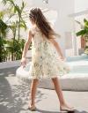 コールドショルダー花柄ドレス