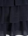 カスケーディングレイヤーの袖なしドレス