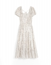 LIMITED EDITION Capped Sleeved Cascading Midi Dress