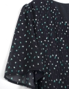 半袖プリーツミディドレス