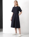 Flare Dress With Reverse Pleats