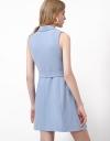 袖なしベルト付きトレンチドレス