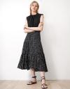 Tier Flared Skirt