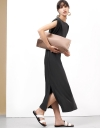 マキシショルダーパッドドレス