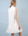 袖なしプリーツシャツドレス