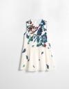 アートフローラルプリントドレス