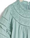 限定ラッフル刺繍ドレス