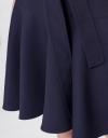 ベルト付き袖なしAラインドレス