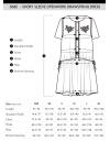 限定半袖オープンワークドローストリングドレス