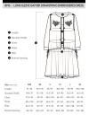 長袖ギャザードローストリング刺繍ドレス