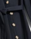 長袖刺繍カラーシャツドレス