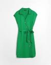 刺繍カラーシャツドレス