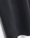 コントラストミディストラップドレス