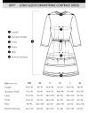 長袖ドローストリングコントラストドレス