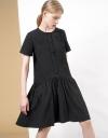 ギャザードローストリング刺繍ドレス