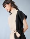 Contrast Placket Side Dress