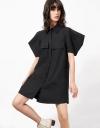 オーバーサイズスリーブのシャツドレス