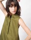 刺繡カラーのシャツドレス