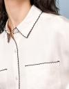 スティッチングエッジのオーバーサイズシャツ