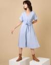 オーバーサイズドローストリングドレス