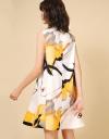サークルフレアプリントドレス