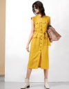 Topstitch Shoulder Utility Dress