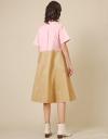 コントラストシャツドレス