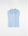 刺繡のミニマルシャツ