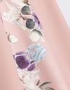 コントラスト花柄ミディドレス
