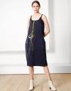 限定スカルプテッド刺繍スリップドレス