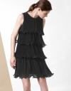 プリーツカーブドレス
