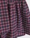 長袖チェックスカートドレス