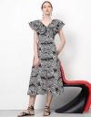 Volume Ruffles Midi Dress