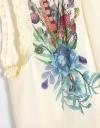 配置プリント花柄トップ