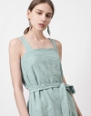 スリットのストラップチュニックドレス