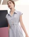 ドレープシャツミディドレス