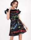 フォルテデイマルミプリントドレス