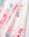 配置花柄ドレス