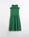 Off-Shoulder Ruched Midi Dress