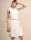 ベルト付きプリーツドレス