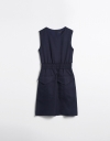 Textural Pocket Dress with Elastic Waistband